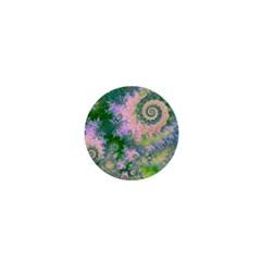 Rose Apple Green Dreams, Abstract Water Garden 1  Mini Button