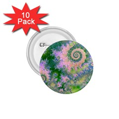 Rose Apple Green Dreams, Abstract Water Garden 1 75  Button (10 Pack)