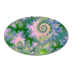 Rose Apple Green Dreams, Abstract Water Garden Magnet (oval)