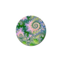 Rose Apple Green Dreams, Abstract Water Garden Golf Ball Marker 4 Pack