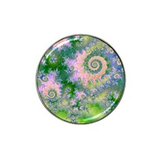 Rose Apple Green Dreams, Abstract Water Garden Golf Ball Marker (for Hat Clip)