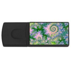 Rose Apple Green Dreams, Abstract Water Garden 4gb Usb Flash Drive (rectangle)