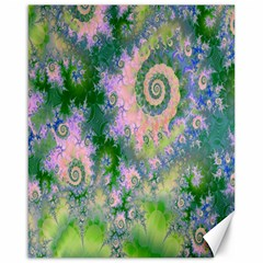 Rose Apple Green Dreams, Abstract Water Garden Canvas 16  x 20  (Unframed)