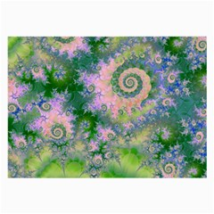 Rose Apple Green Dreams, Abstract Water Garden Glasses Cloth (large)