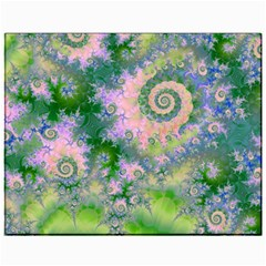 Rose Apple Green Dreams, Abstract Water Garden Canvas 11  X 14  (unframed)