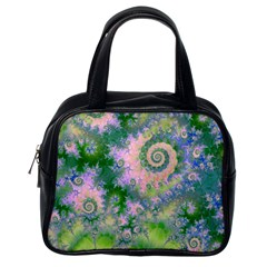 Rose Apple Green Dreams, Abstract Water Garden Classic Handbag (one Side)