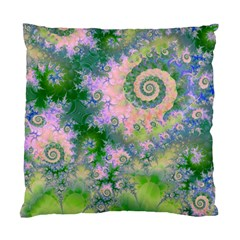 Rose Apple Green Dreams, Abstract Water Garden Cushion Case (Two Sided)