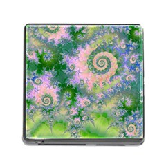 Rose Apple Green Dreams, Abstract Water Garden Memory Card Reader With Storage (square)