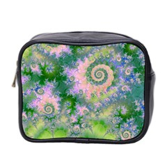 Rose Apple Green Dreams, Abstract Water Garden Mini Travel Toiletry Bag (Two Sides)