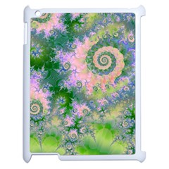 Rose Apple Green Dreams, Abstract Water Garden Apple iPad 2 Case (White)