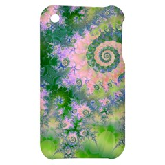 Rose Apple Green Dreams, Abstract Water Garden Apple iPhone 3G/3GS Hardshell Case