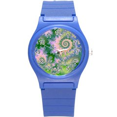 Rose Apple Green Dreams, Abstract Water Garden Plastic Sport Watch (Small)