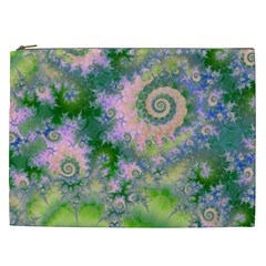 Rose Apple Green Dreams, Abstract Water Garden Cosmetic Bag (xxl)