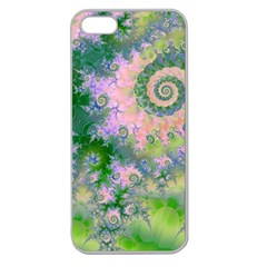 Rose Apple Green Dreams, Abstract Water Garden Apple Seamless Iphone 5 Case (clear)