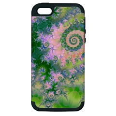 Rose Apple Green Dreams, Abstract Water Garden Apple Iphone 5 Hardshell Case (pc+silicone)