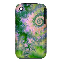 Rose Apple Green Dreams, Abstract Water Garden Apple iPhone 3G/3GS Hardshell Case (PC+Silicone)