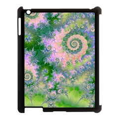 Rose Apple Green Dreams, Abstract Water Garden Apple iPad 3/4 Case (Black)
