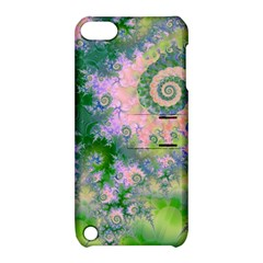 Rose Apple Green Dreams, Abstract Water Garden Apple iPod Touch 5 Hardshell Case with Stand