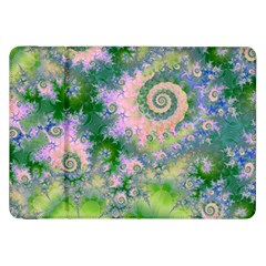 Rose Apple Green Dreams, Abstract Water Garden Samsung Galaxy Tab 8.9  P7300 Flip Case