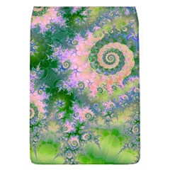 Rose Apple Green Dreams, Abstract Water Garden Removable Flap Cover (Large)