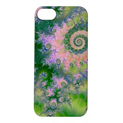 Rose Apple Green Dreams, Abstract Water Garden Apple iPhone 5S Hardshell Case