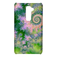Rose Apple Green Dreams, Abstract Water Garden LG G2 Hardshell Case