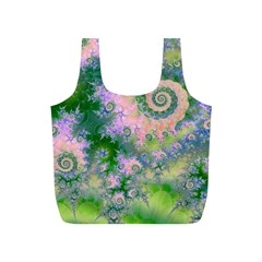 Rose Apple Green Dreams, Abstract Water Garden Reusable Bag (S)