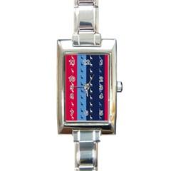Giraffentapete Rectangular Italian Charm Watch