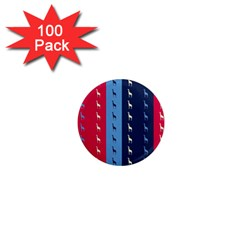 Giraffentapete 1  Mini Button Magnet (100 Pack)
