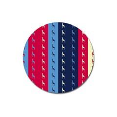 Giraffentapete Magnet 3  (Round)