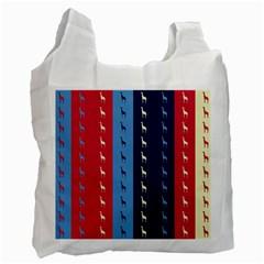 Giraffentapete White Reusable Bag (One Side)