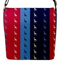 Giraffentapete Flap Closure Messenger Bag (Small)