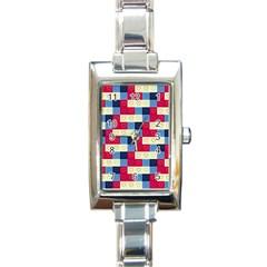 Hearts Rectangular Italian Charm Watch