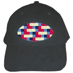 Hearts Black Baseball Cap