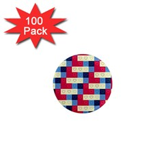 Hearts 1  Mini Button Magnet (100 pack)