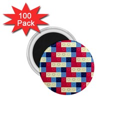 Hearts 1 75  Button Magnet (100 Pack)