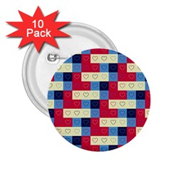 Hearts 2.25  Button (10 pack)