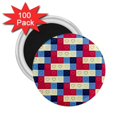 Hearts 2 25  Button Magnet (100 Pack)