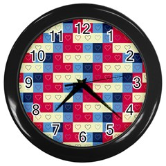 Hearts Wall Clock (Black)