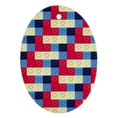 Hearts Oval Ornament (Two Sides)