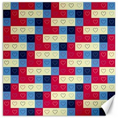 Hearts Canvas 16  x 16  (Unframed)