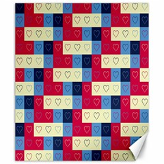 Hearts Canvas 20  x 24  (Unframed)