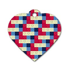 Hearts Dog Tag Heart (Two Sided)