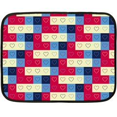 Hearts Mini Fleece Blanket (Two Sided)