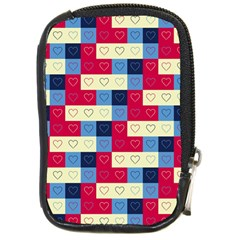 Hearts Compact Camera Leather Case