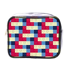 Hearts Mini Travel Toiletry Bag (One Side)