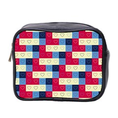 Hearts Mini Travel Toiletry Bag (Two Sides)