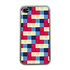 Hearts Apple Iphone 4 Case (clear)