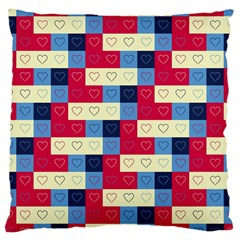 Hearts Large Cushion Case (Two Sided)