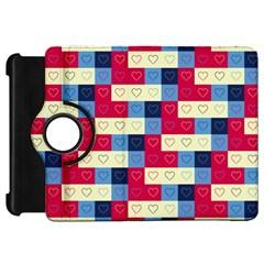 Hearts Kindle Fire HD 7  (1st Gen) Flip 360 Case